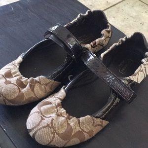 Coach Shoes - Coach ballet flats with adjustable Velcro straps